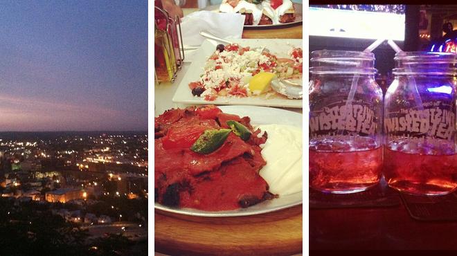 Park ⇨ Mediterranean restaurant ⇨ Bar