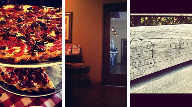 Trail ⇨ Massage studio ⇨ Pizza place