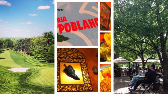 Golf course ⇨ Mexican restaurant ⇨ Beer garden