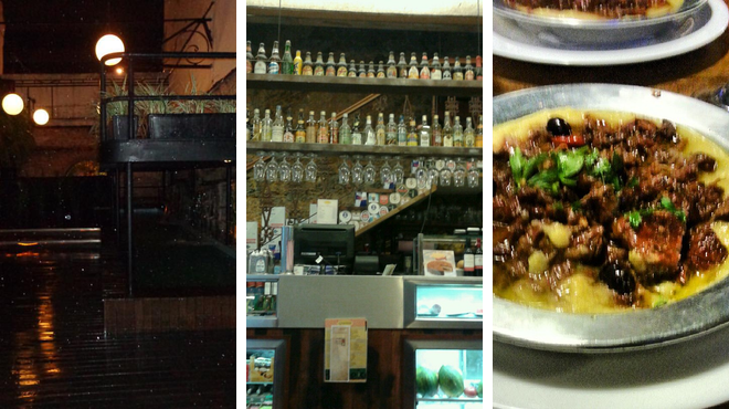 Music venue ⇨ Brazilian restaurant ⇨ Bar