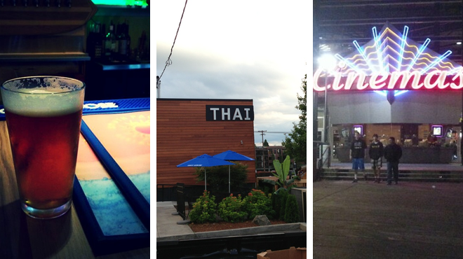 Catch a movie ⇨ Thai restaurant ⇨ Bar