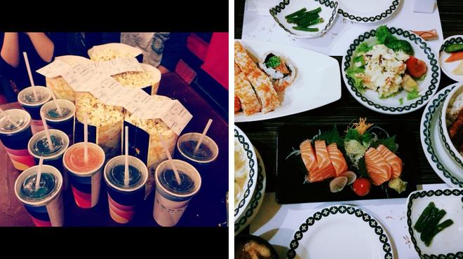 Catch a movie ⇨ Japanese restaurant