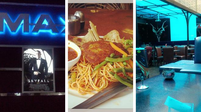 Catch a movie ⇨ African restaurant ⇨ Lounge
