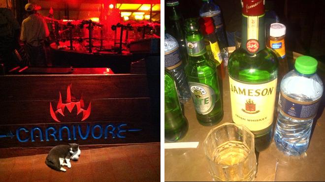 African restaurant ⇨ Whisky bar