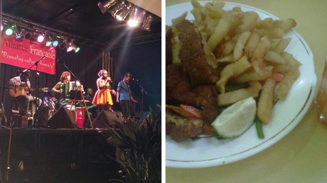 Performing arts venue ⇨ African restaurant