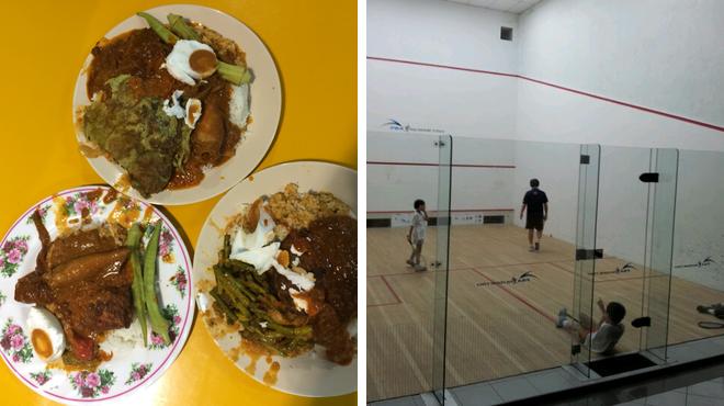 Malaysian restaurant ⇨ Squash court
