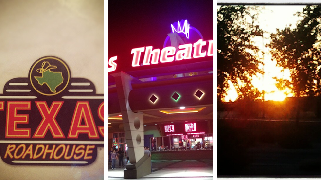 Park ⇨ Steakhouse ⇨ Catch a movie