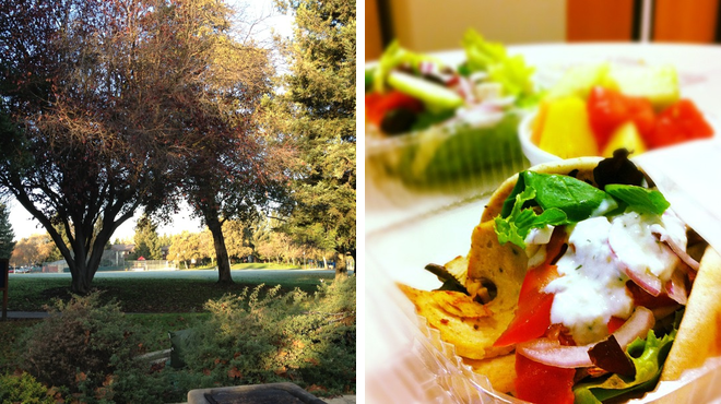 Park ⇨ Greek restaurant