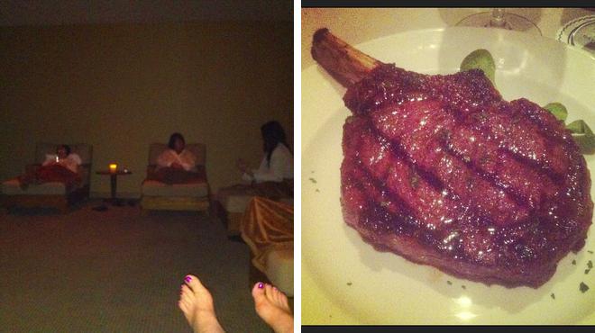 Couple's Massage ⇨ Steakhouse