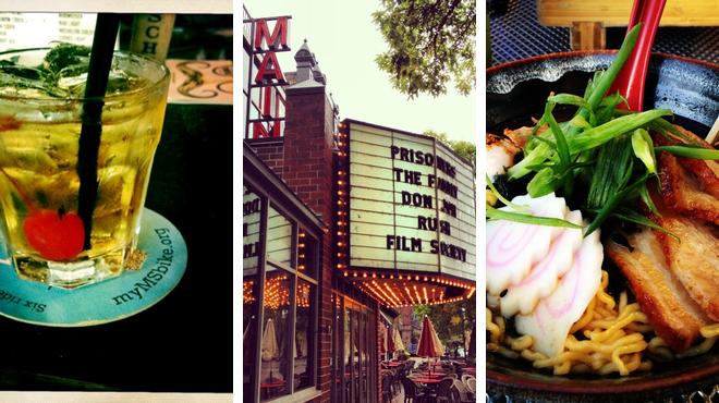 Catch a movie ⇨ Sushi restaurant ⇨ Sports bar