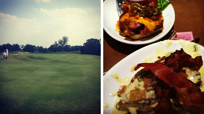 Golf course ⇨ Burger joint
