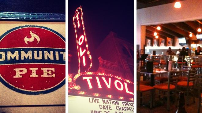 Pizza place ⇨ Music venue ⇨ Bar