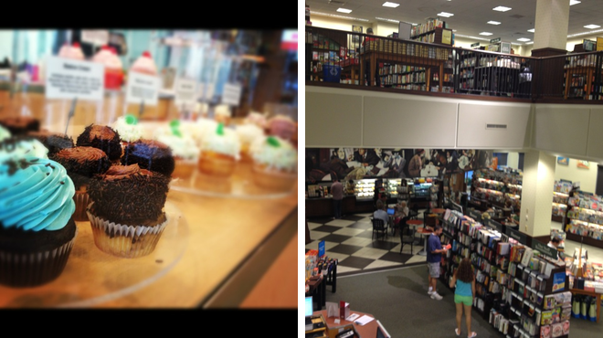 Cupcake shop ⇨ Bookstore