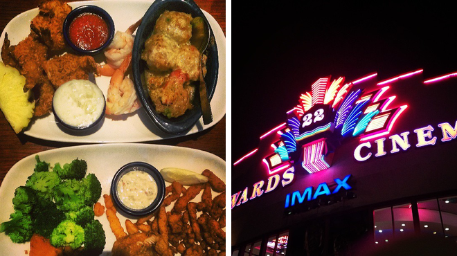 Seafood restaurant ⇨ Catch a movie