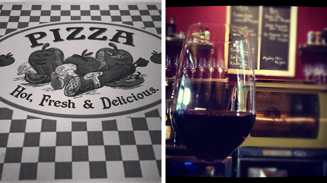 Pizza place ⇨ Wine bar