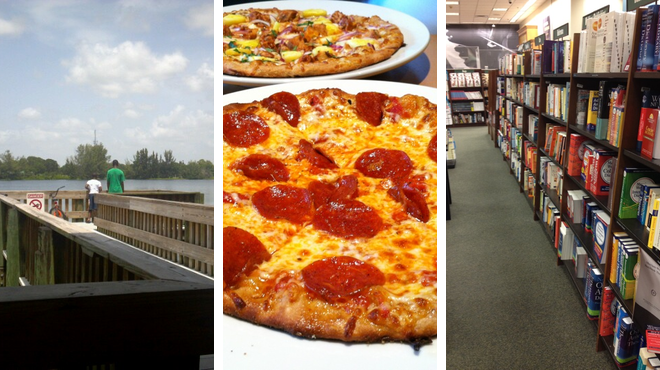 Park ⇨ Pizza place ⇨ Bookstore