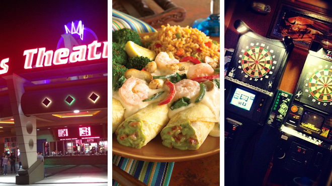 Catch a movie ⇨ Mexican restaurant ⇨ Bar