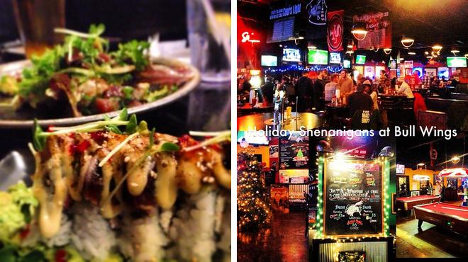 Sushi restaurant ⇨ Sports bar