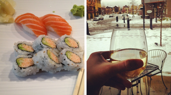 Sushi restaurant ⇨ Wine bar