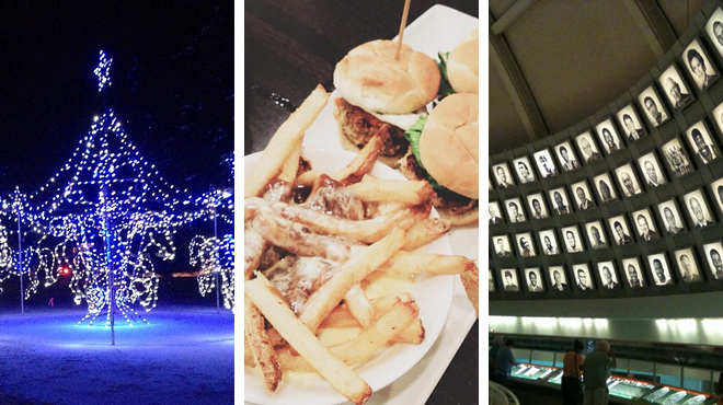 Park ⇨ Burger joint ⇨ Experience exhibits