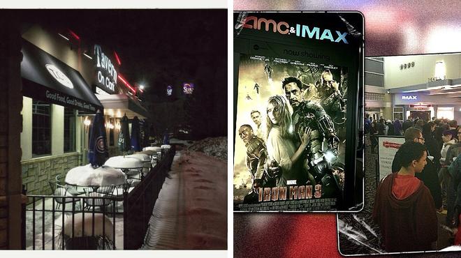 American restaurant ⇨ Catch a movie