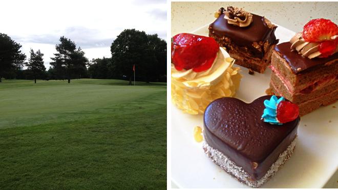 Golf course ⇨ Greek restaurant