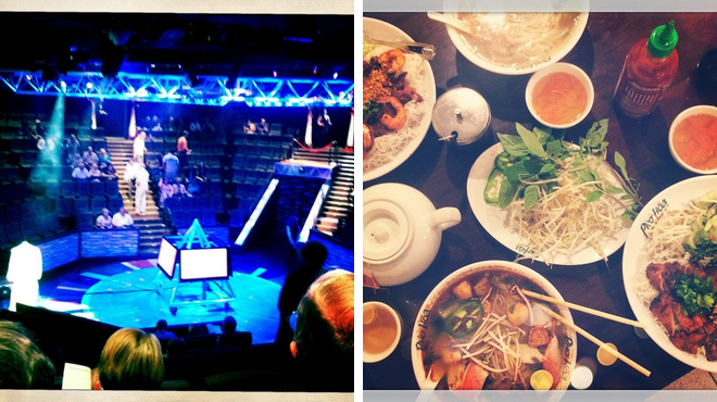 Performing arts venue ⇨ Asian restaurant