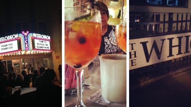 Catch a movie ⇨ American restaurant ⇨ Dive bar