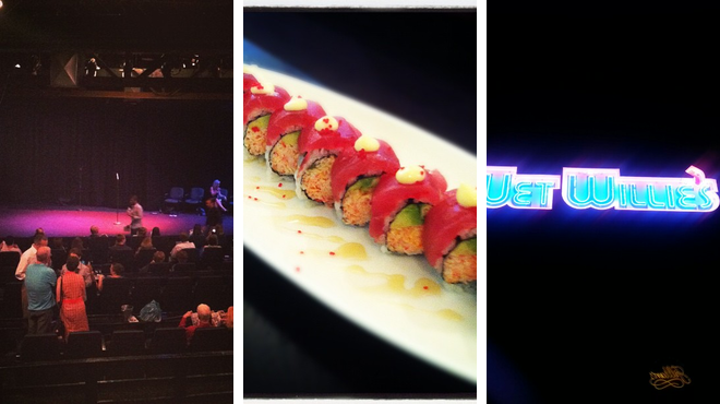 Theater ⇨ Asian restaurant ⇨ Bar