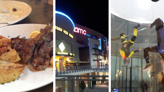 Greek restaurant ⇨ Mall ⇨ Theme park ride / attraction