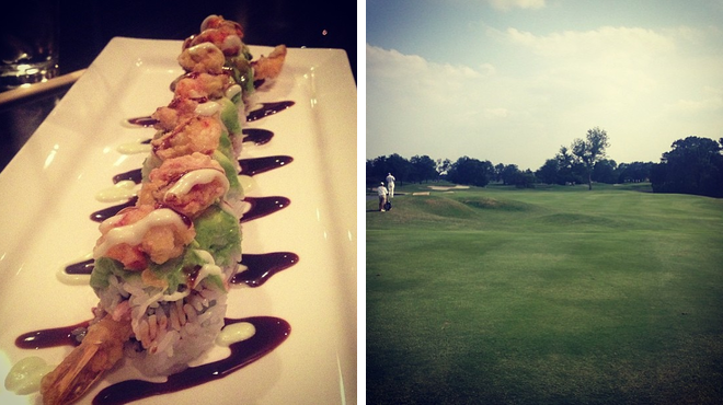 Sushi restaurant ⇨ Golf course
