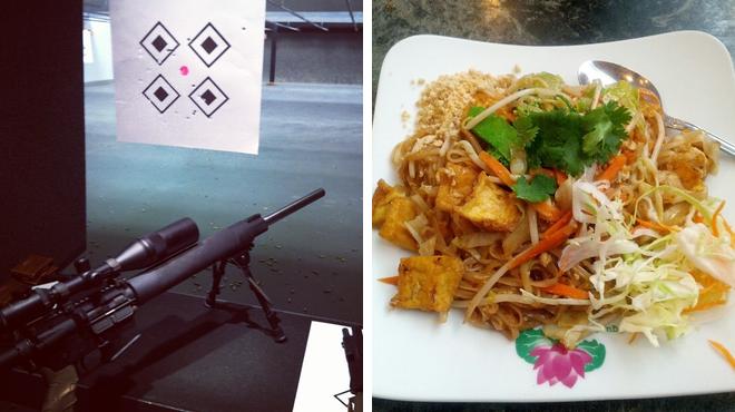 Gun range ⇨ Vietnamese restaurant