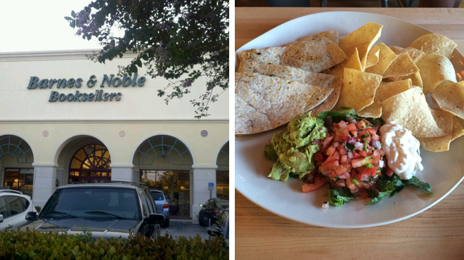 Bookstore ⇨ Mexican restaurant ⇨ Post office