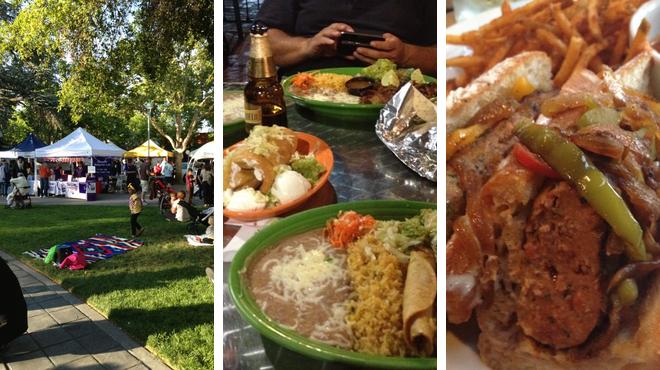 Plaza ⇨ Mexican restaurant ⇨ Sports bar