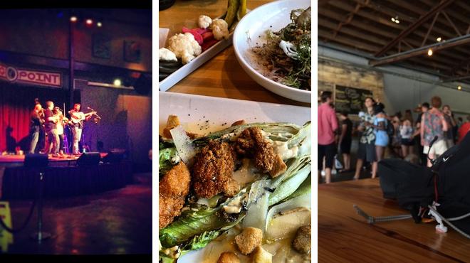 Music venue ⇨ American restaurant ⇨ Brewery
