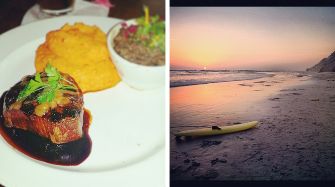 American restaurant ⇨ Surf spot