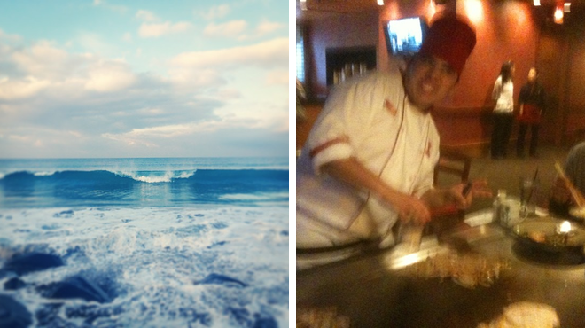 Surf spot ⇨ Japanese restaurant