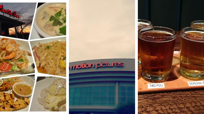 Thai restaurant ⇨ Catch a movie ⇨ Brewery