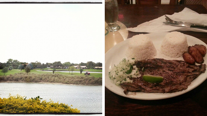 Golf course ⇨ Cuban restaurant