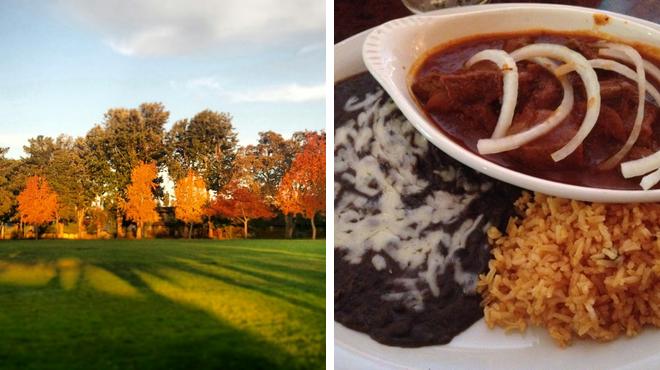 Park ⇨ Mexican restaurant