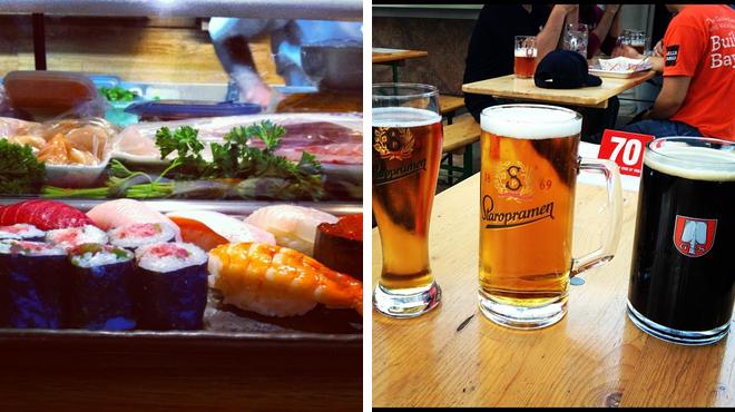 Sushi restaurant ⇨ Beer garden