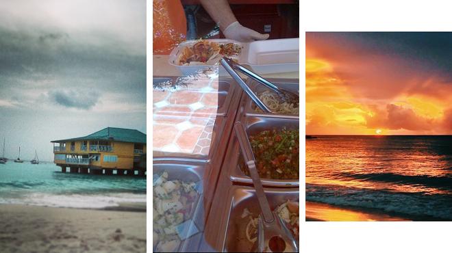 Beach ⇨ Middle eastern restaurant ⇨ Bar