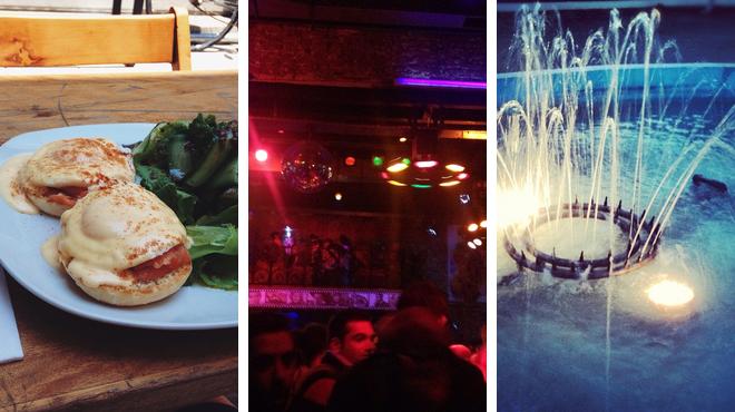 Park ⇨ Bistro ⇨ Nightclub