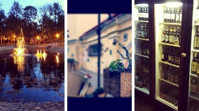 Park ⇨ French restaurant ⇨ Brewery