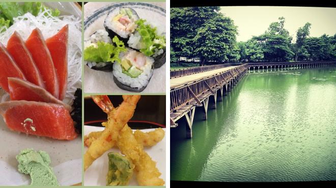 Sushi restaurant ⇨ Lake