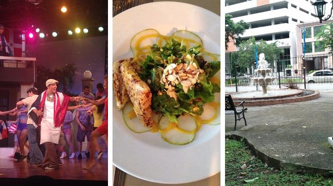 Theater ⇨ Park ⇨ Restaurant