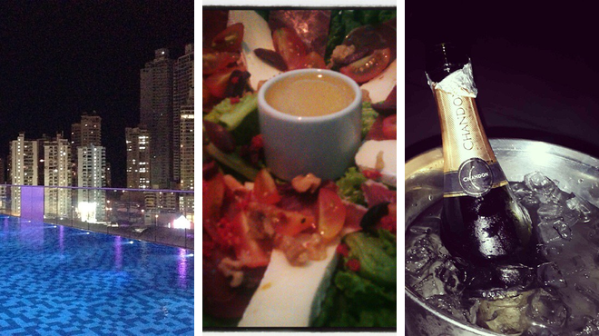 Pool ⇨ Pizza place ⇨ Hotel bar