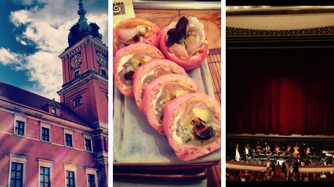 Castle ⇨ Sushi restaurant ⇨ Opera house
