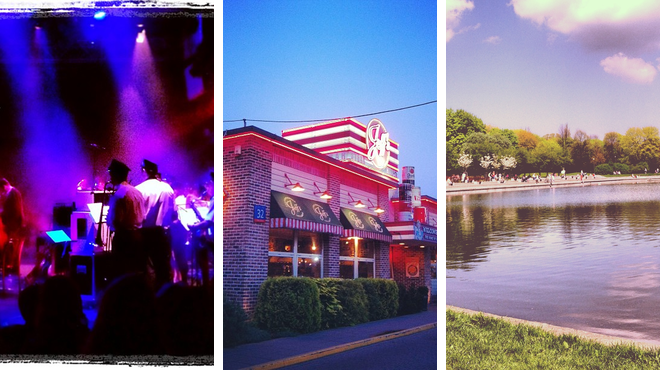 Theater ⇨ American restaurant ⇨ Park