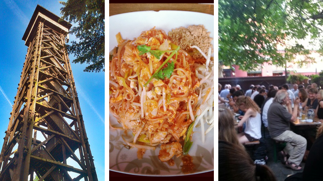 Scenic Views ⇨ Thai restaurant ⇨ Beer garden
